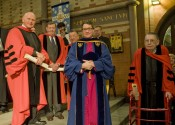 The Rev. Dr. Richard Pfaff, David Booth Beers, Esq., the Most Rev. Martn Barahona, the Rev. Dr. Patrick Malloy, and the Rev. Canon Carl Gerdau.