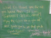 A thank you from a family at the emergency shelter run by St. James Church in Lancaster, PA