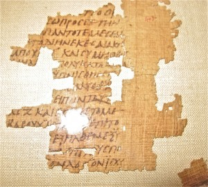 GTS Welcomes Norwegian Scholar to View Rare Papyrus Fragment of 2 Baruch