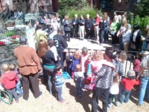Students Create Liturgy to Bless New Community Garden